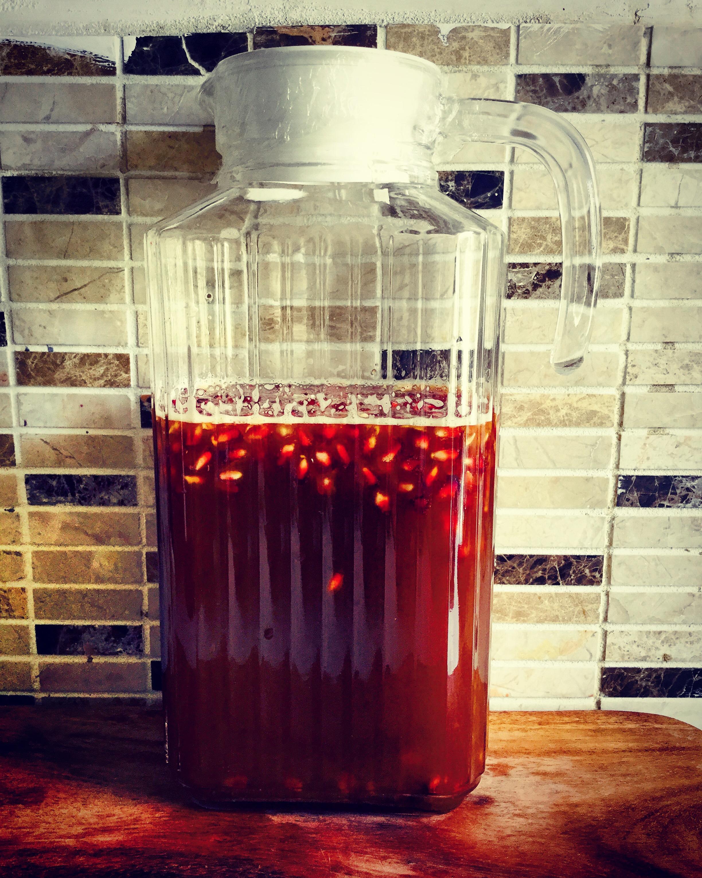 pomegranate kombucha
