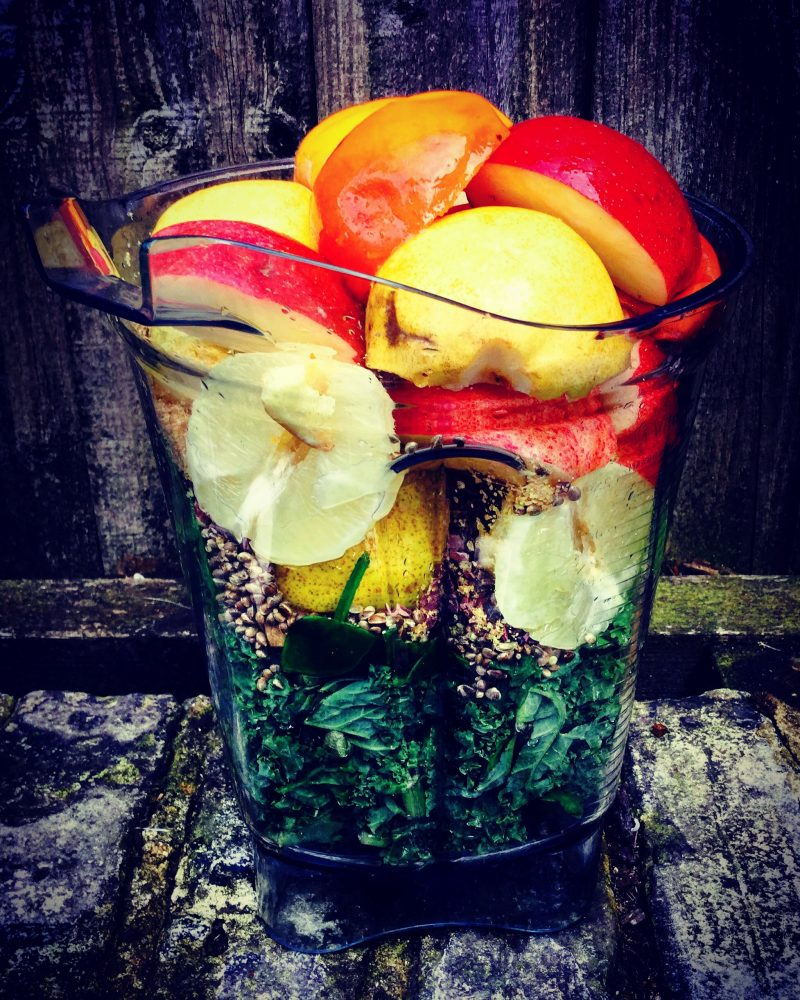 Delicious smoothie from leftover fruit and veg